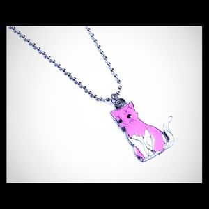 Jewelry - Pink Cat Handmade Necklace New 18""